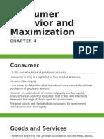 Consumer Behavior and Maximization