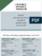 Raport Proiect Centrul Studiul Artelor IPC 2015-2018