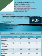 Raport Proiect Centrul Etnologie IPC 2015-2018