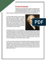Biografía Joseph Louis de Lagrange