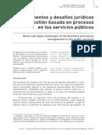 gestión procesos servicio publico