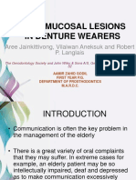 oral mucosal lesions indenture wearers-