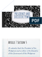 Presidency and Executive Power