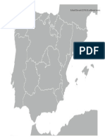 Mapa Mudo Espana Comunidades