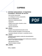 Cuprins HORECA