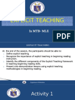 Explicit Teaching Grade 1