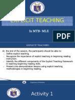 Explicit Teaching Grade 1
