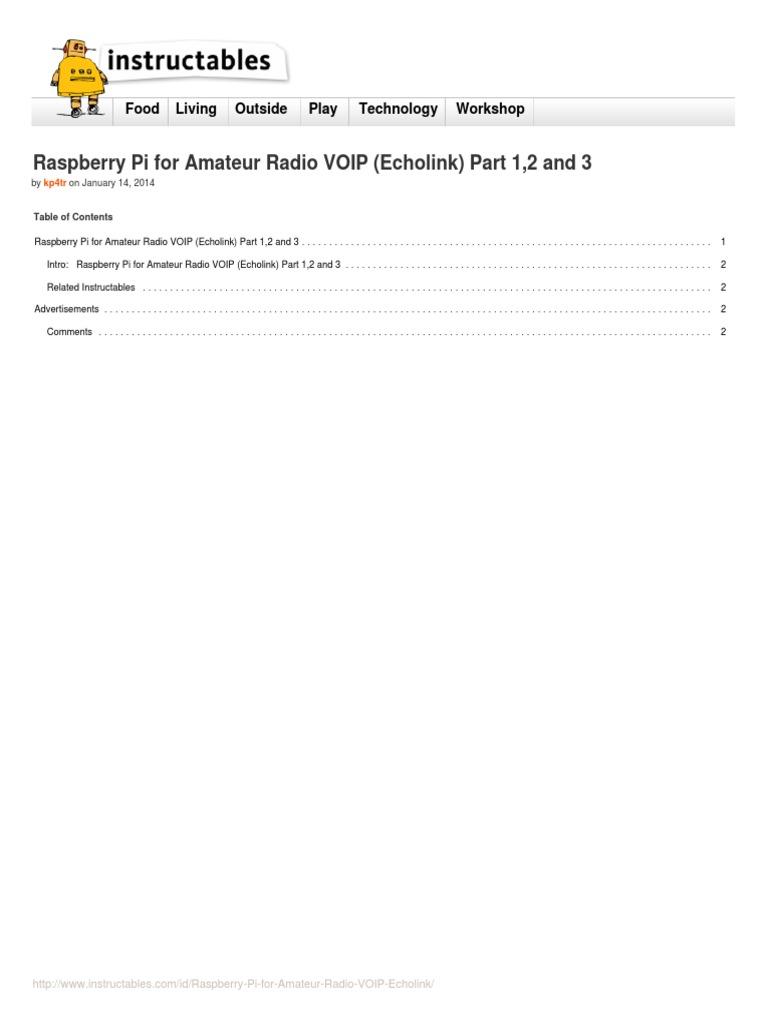 ECHOLINK RASPBERRY   Amateur Radio   Broadcasting