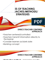 Types of Teaching Approaches