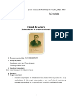 Club de Lectura -Proiect Educativ
