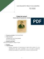 Club de Lectura -Proiect Educativ