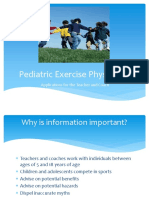 Pediatric Exercise Physiology