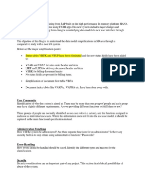 SAP SD S4 hana docx | Sap Se | International Financial