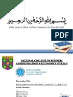 RECRUITMENT & DECRUITMENT IN OGDCL LTD, PAKISTAN - HRM