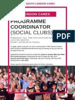 South London Cares Programme Coordinator (Social Clubs)
