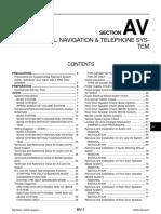 Audio, Visual, Navigation & Telephone System
