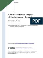 Barrientos, Pedro (2012). Como escribir un «paper» (Orientaciones y Consejos).pdf