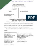 Sandmann v. Washington Post - Motion to Dismiss w Memo of Law and Exhibits