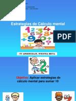 Estrategias de Cálculo Mental Sumar 10