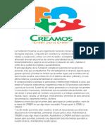 La Fundación Creamos es una organización social sin colores políticos ni ideologías religiosas.docx