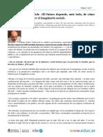 Juan Carlos Volnovich El Futuro Depende Ante Todo de Como Circule La Infancia Por El Imaginario Social