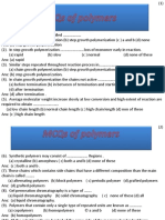 MCQs of Polymers