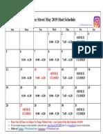 Shot Calendar PN May 2019