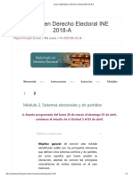 Diplomado en Derecho Electoral INE 2018