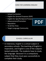 2. Reasons for Learning English