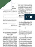 Estabelecimentos Alimentares - Legislacao Portuguesa - 2008/01 - Port nº 70 - QUALI.PT