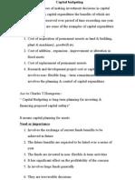 F Capital Budgeting