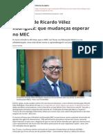 Discurso de Ricardo Velez Rodriguez Que Mudancas Esperar No Mecpdf