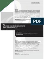 SobreElObjetoDeConocimientoDeLaEducacionFisica