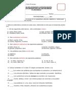 Evaluación de los sustantivos, articulos. 3°