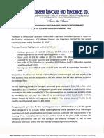 CFF December 2016 Financial Report