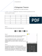 The Pythagorean Theorem Example