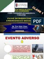 Clase 1 - Emergencia y Desastre