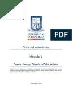 Guia del estudiante Curriculum y diseños educativos