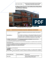 Escenario de Riesgo Estructural en Instituciones Educativas
