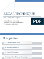 LEGAL TECHNIQUE 3 Application Leg Process Analyzing Statutes