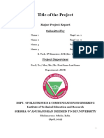 Project Report Template March 2019