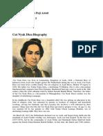 Cut Nyak Dien Biography English Language Version
