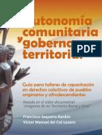 Autonomía comunitaria y gobernanza territorial