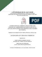 Concecuencias Juridico Financiero Del Endoso en Administración Regulado en La Ley de Anotaciones Electronicas de Valores en Cuenta