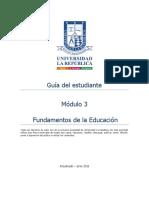 Guía Del Estudiante Módulo 3 fundamentos de la educacion