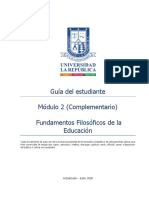 Guía Del Estudiante Módulo 2 Fundamentos de la Educación Complementaria