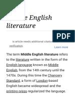 Middle English Literature - Wikipedia