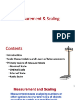 Measurement Scaling