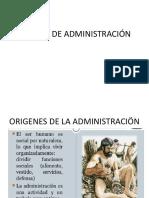 Epocas de Administración