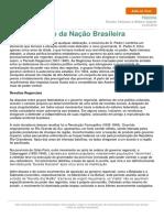 A Construção Da Nação Brasileira
